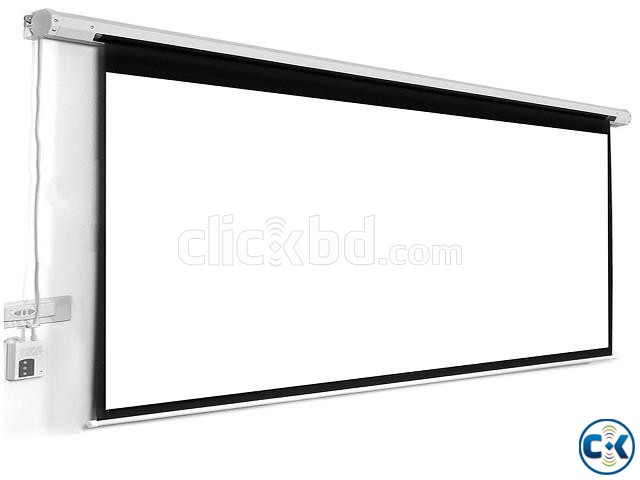 60 x 60 Electric Motorized Projector Screen | ClickBD large image 1