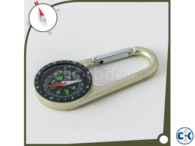 Promotional modern zinc alloy Carabiner Compass | ClickBD large image 0