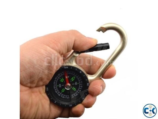 Promotional modern zinc alloy Carabiner Compass | ClickBD large image 2