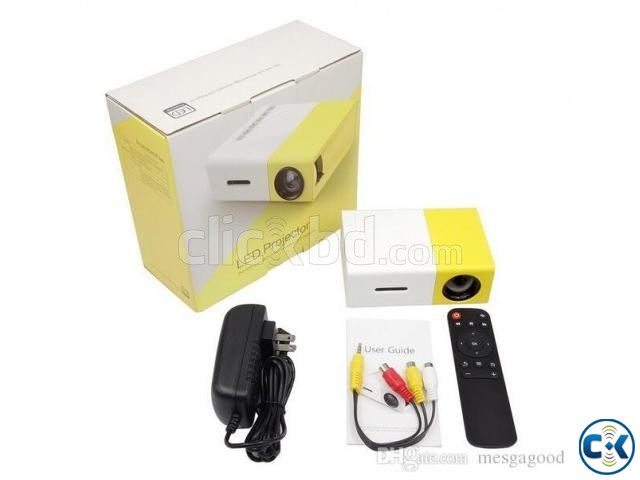 YG-300 LCD Mini Portable LED Projector | ClickBD large image 1