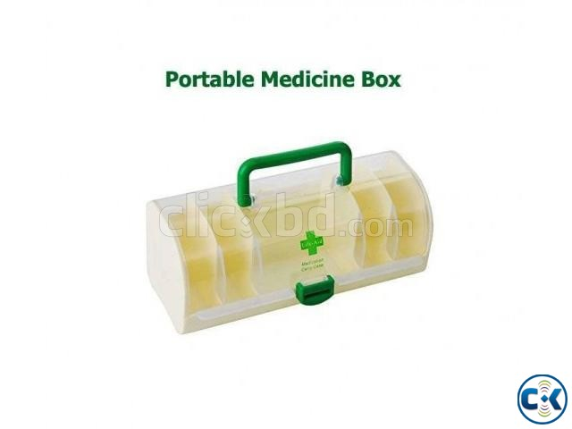 portable 5 layer medicine carry box | ClickBD large image 0