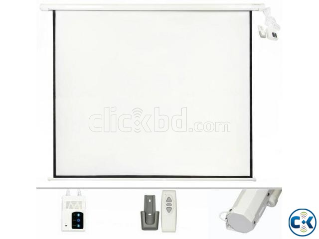 Motorized Electric Projector Screen 84 x 84  | ClickBD large image 0