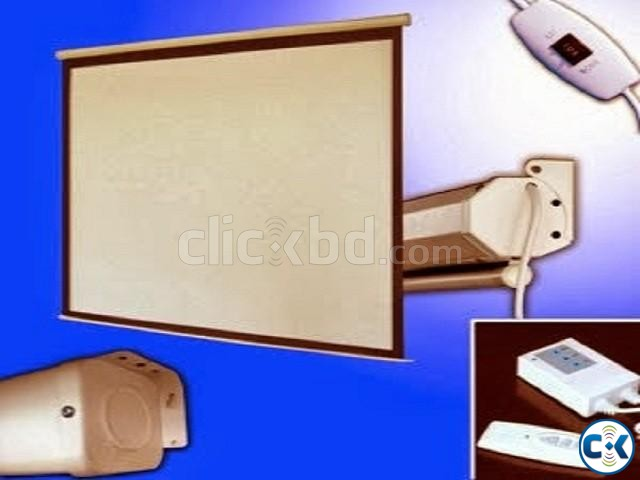 Motorized Electric Projector Screen 84 x 84  | ClickBD large image 1