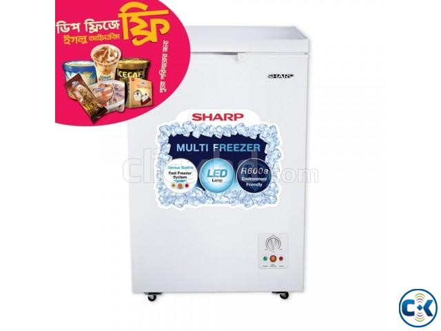 Sharp Deep Freezer SJC-105-WH | ClickBD large image 1