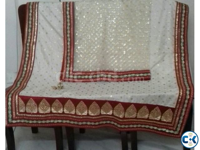 Wedding Saree with Dopatta | ClickBD large image 0