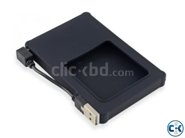 Silicone 2.5 Hard Drive Enclosure with USB 2.0 Cable | ClickBD large image 0