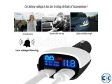 Smart car charger with Digital volt reading batery displa