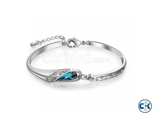 Rose Gold Blue Bracelet QSH  | ClickBD large image 1