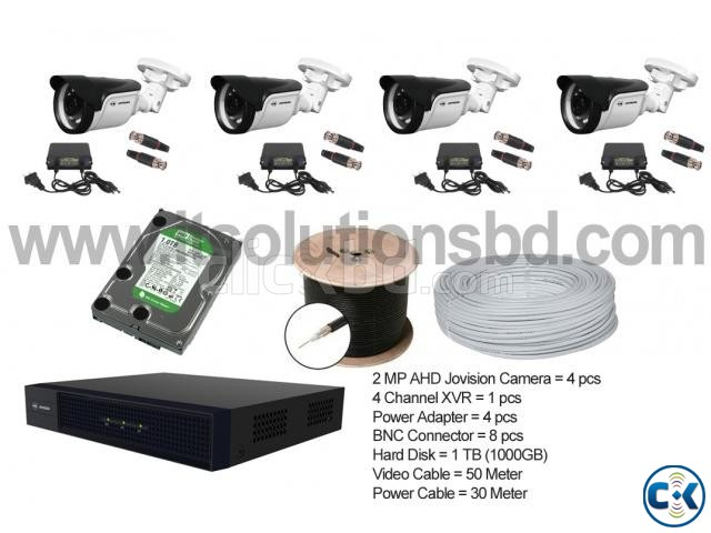 Jovision 2MP 4 pcs CCTV Camera Setup | ClickBD large image 0