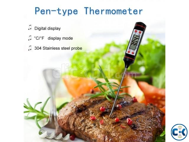 Digital Instant Read Food Thermometer for BBQ Cooking Milk | ClickBD large image 1