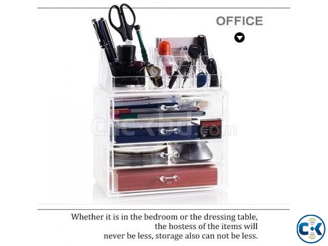Cosmatic Makeup Organizer Drawer Storage Box | ClickBD large image 1