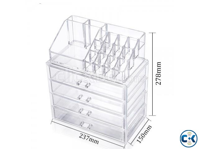 Cosmatic Makeup Organizer Drawer Storage Box | ClickBD large image 2