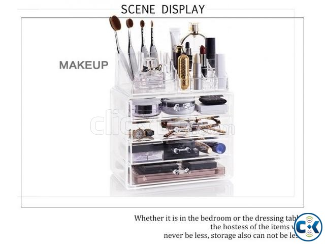 Cosmatic Makeup Organizer Drawer Storage Box | ClickBD large image 3