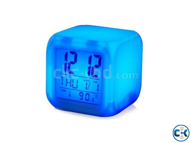7 Color Digital LED Clock With Alarm-C 0187. | ClickBD large image 0