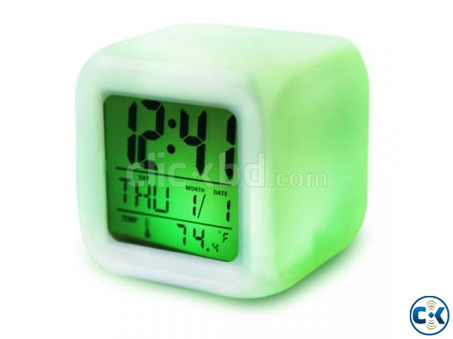 7 Color Digital LED Clock With Alarm-C 0187. | ClickBD large image 2