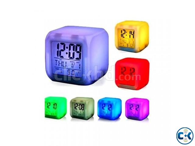 7 Color Digital LED Clock With Alarm-C 0187. | ClickBD large image 3