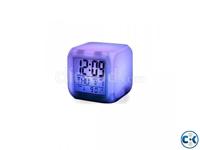 7 Color Digital LED Clock With Alarm-C 0187. | ClickBD large image 4
