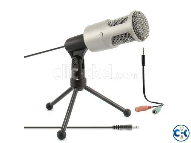 Audio Professional Condenser Microphone Mic Table Stand | ClickBD large image 1
