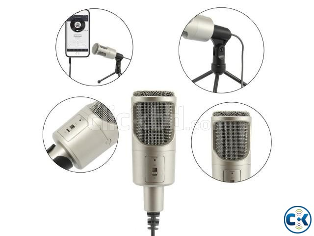Audio Professional Condenser Microphone Mic Table Stand | ClickBD large image 2