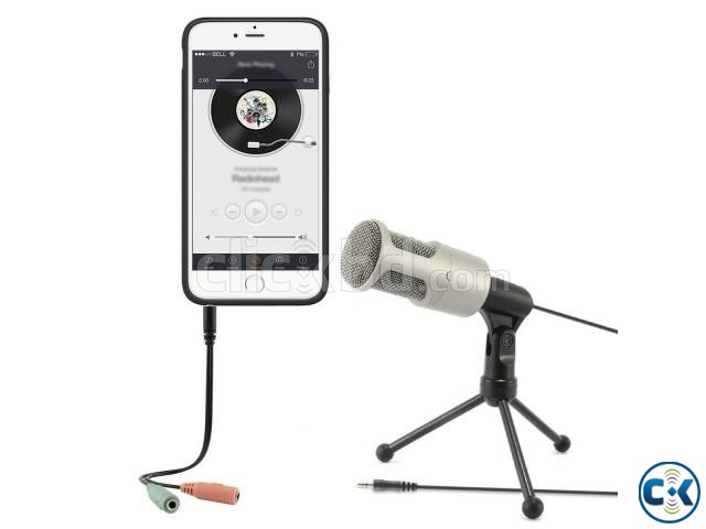 Audio Professional Condenser Microphone Mic Table Stand | ClickBD large image 3