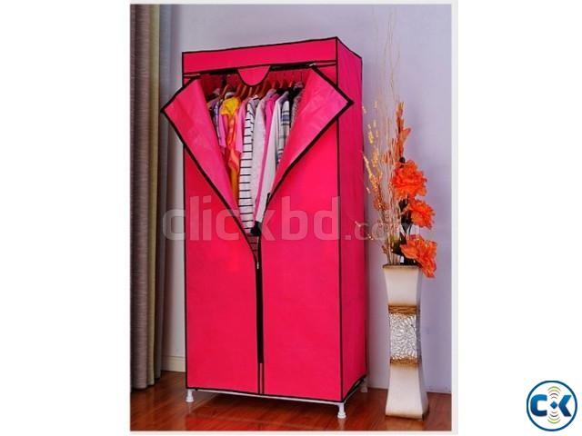 Bedroom Fabric Wardrobe Portable Adjustable Furniture   ClickBD large image 0