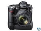 Nikon D90 Battery Grip Lens 2 Batteries