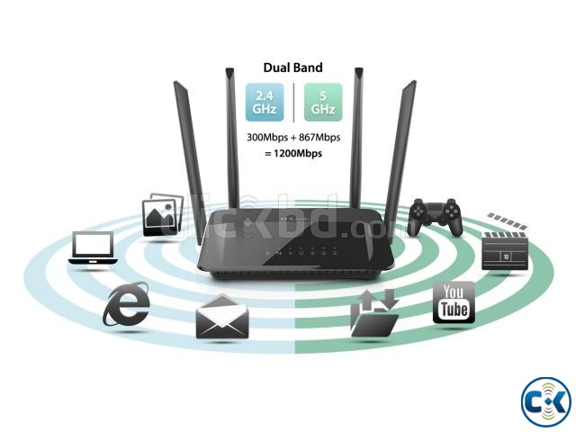Wireless AC1200 Dual Band Gigabit Router | ClickBD large image 3