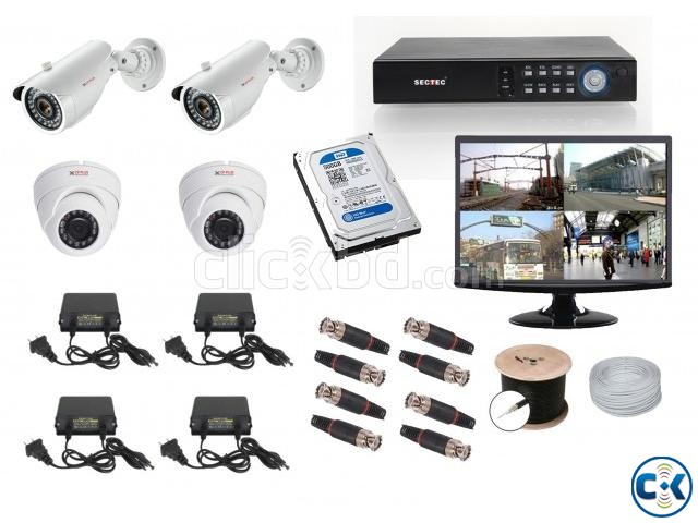 4 HD CCTV Camera Setup Package with Monitor | ClickBD large image 0