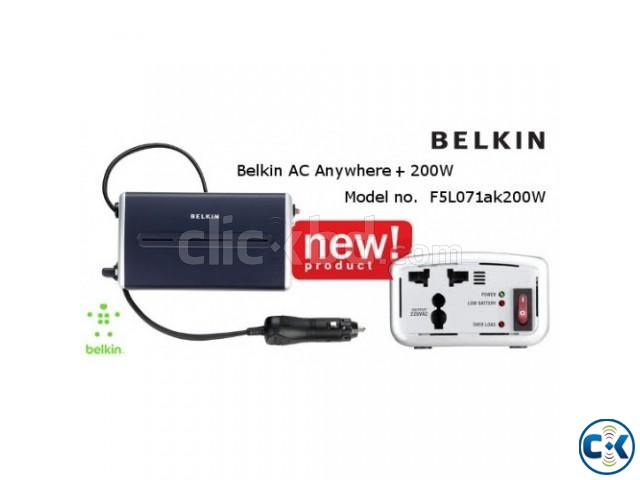 Belkin AC Anywhere Power inverter With USB Charging-200w | ClickBD large image 3