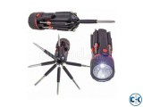 8 In 1 Multi Screw Driver And Torch