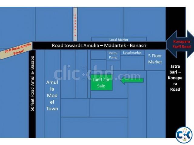 Land Beside Konapara-staff road Mouja- Noraibagh | ClickBD large image 0
