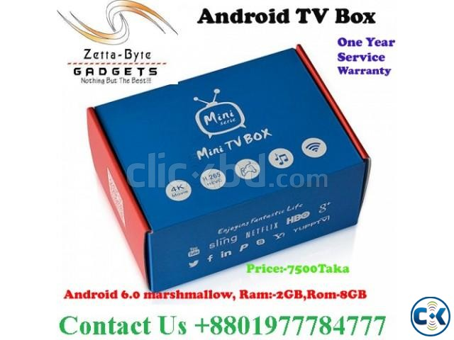 Android tv box Convert any TV to And TV Android 6. Ram-2GB | ClickBD large image 1