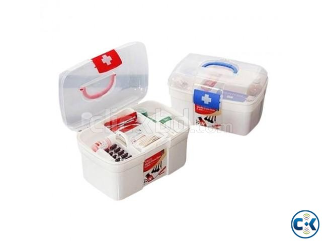 Firt Aid Kit Box - Medium -1pc | ClickBD large image 0