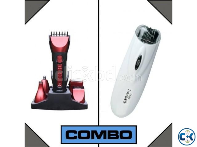 Combo of Kemei Trimmer and Emjoi Tweeze Facial Body Hair R | ClickBD large image 0