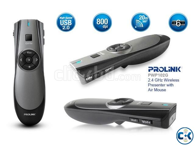 PROLiNK PWP102G Wireless Presenter with Air Mouse | ClickBD large image 0