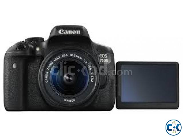 Canon EOS 750D 24.2MP Digital SLR Camera Black with 18-55 | ClickBD large image 0