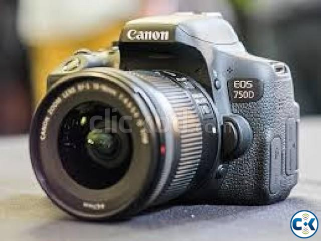 Canon EOS 750D 24.2MP Digital SLR Camera Black with 18-55 | ClickBD large image 1