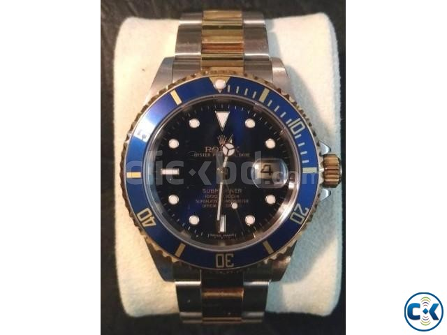 Rolex Submariner Steel 18K Yellow Gold Blue Dial Watch | ClickBD large image 0