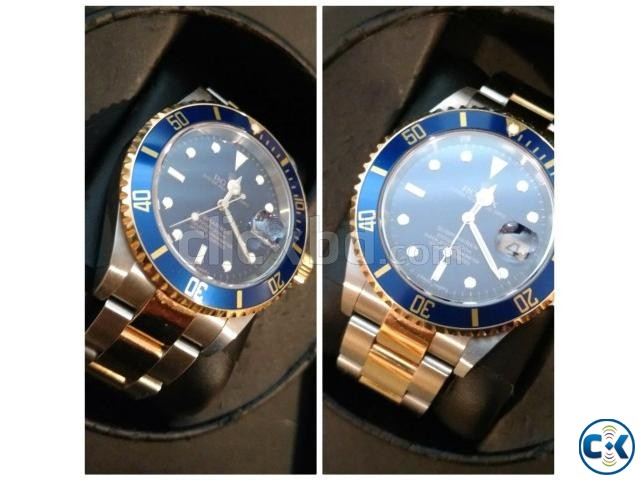 Rolex Submariner Steel 18K Yellow Gold Blue Dial Watch | ClickBD large image 1