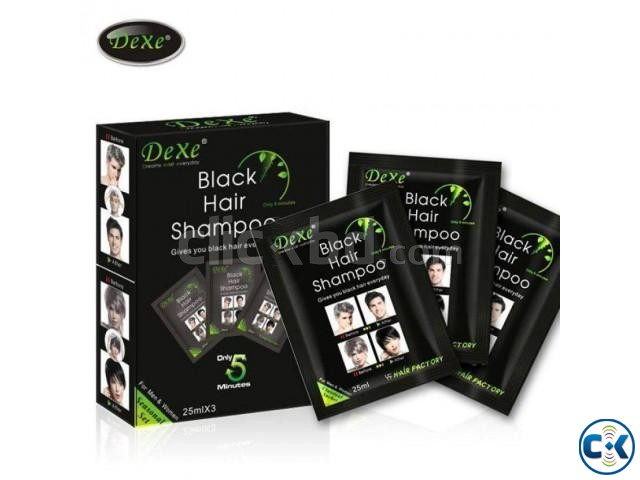 Dexe Black Hair Color Shampoo | ClickBD large image 0