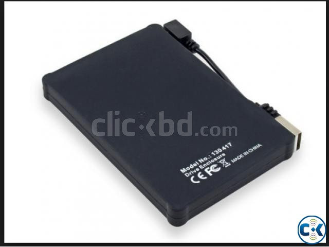 Silicone 2.5 Hard Drive Enclosure with USB 2.0 Cable | ClickBD large image 1
