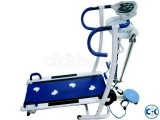 Manual Treadmill-6 in 1 Blue