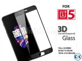 Premium 3D Curved Tempered Glass For ONE PLUS 5