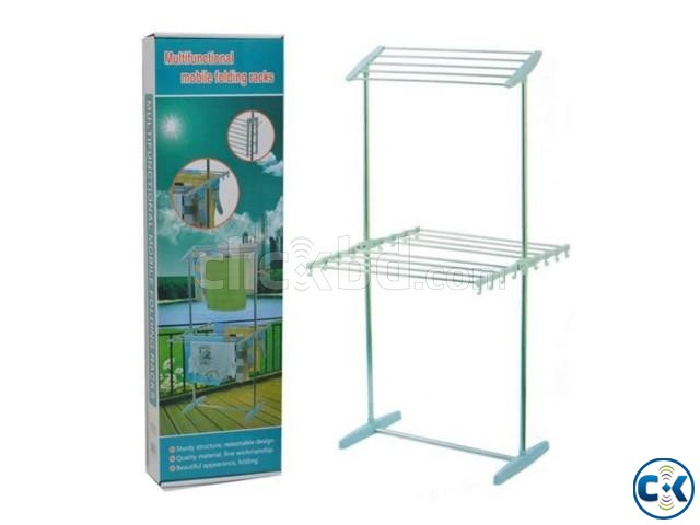 Multi-functional Mobile Folding Clothes Rack | ClickBD large image 1
