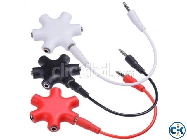 5-Way Headphone Splitter -3.5Mm -1pc | ClickBD large image 0