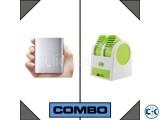 Combo of Mi Power Bank 10400mAh USB Mini Air Cooler