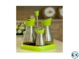 5 pcs Set Glass Jar Glass Oil and Vinegar Bottle Spice Jar
