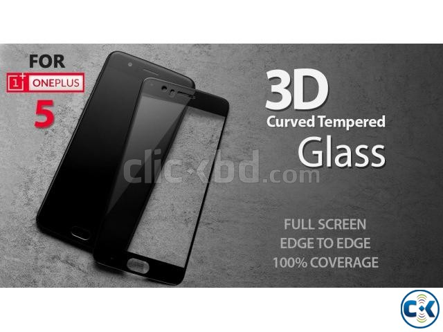 ONE PLUS 5 Premium 3D Curved Tempered Glass | ClickBD large image 0