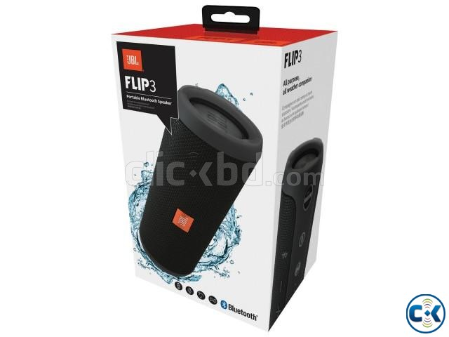 JBL Flip 3 Portable Speaker Black | ClickBD large image 0
