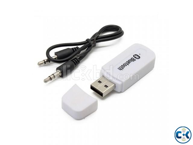 USB Bluetooth Music Receiving Adapter-White   ClickBD large image 0